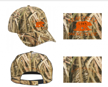 Camo/Orange Unisex Hat >> Free Shipping
