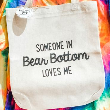 Someone Loves Me Bear Bottom Tote