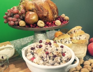 Cranberry-Smoked turkey salad
